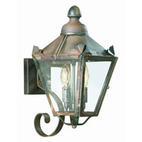 Preston 2 Light 16 inch Charred Iron Outdoor Wall Lantern in Clear