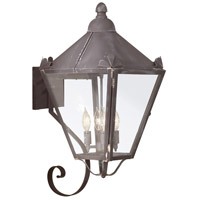Preston 4 Light 26 inch Charred Iron Outdoor Wall Lantern in Clear