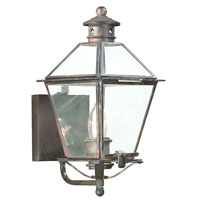 Montgomery 1 Light 14 inch Natural Rust Outdoor Wall Lantern in Clear