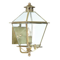 Montgomery 1 Light 16 inch Natural Aged Brass Outdoor Wall Lantern in Clear