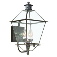 Montgomery 4 Light 24 inch Charred Iron Outdoor Wall Lantern in Incandescent
