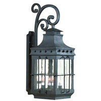 Dover 1 Light 30 inch Natural Bronze Outdoor Wall Lantern in Incandescent, Dark Sky