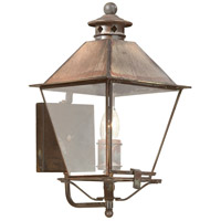 Montgomery 1 Light 16 inch Natural Rust Outdoor Wall Lantern in Clear