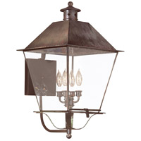 Montgomery 4 Light 26 inch Natural Rust Outdoor Wall Lantern in Clear