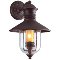 Old Town 1 Light 16 inch Natural Bronze Outdoor Wall Lantern