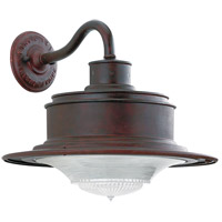South Street 1 Light 12 inch Old Rust Outdoor Wall Downlight