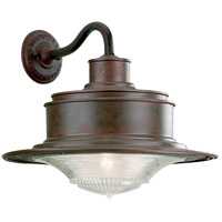 South Street 1 Light 14 inch Old Rust Outdoor Wall Downlight