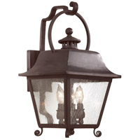 Troy Lighting Bristol 3 Light Outdoor Wall Lantern in Natural Bronze B9442NB