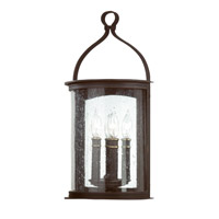 Troy Lighting Scarsdale 2 Light Outdoor Wall Pocket Lantern in Forged Black B9472FBK
