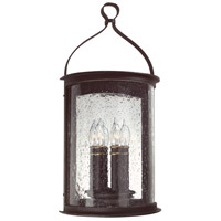 Troy Lighting Scarsdale 3 Light Outdoor Wall Pocket Lantern in Forged Black B9473FBK