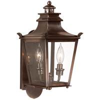 Dorchester 2 Light 16 inch English Bronze Outdoor Wall Lantern