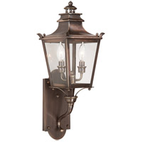 Troy Lighting Dorchester 2 Light Outdoor Wall Lantern in English Bronze B9491EB photo thumbnail