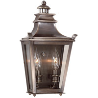 Dorchester 2 Light 14 inch English Bronze Outdoor Pocket Lantern