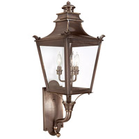 Dorchester 3 Light 31 inch English Bronze Outdoor Wall Lantern