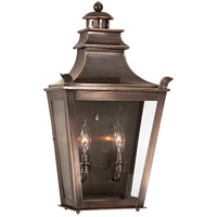 Troy Lighting Dorchester 2 Light Outdoor Pocket Lantern in English Bronze B9494EB