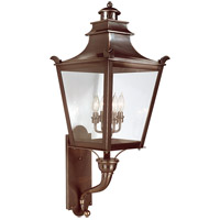 Dorchester 4 Light 37 inch English Bronze Outdoor Wall Lantern