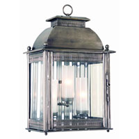 Troy Lighting Covent Garden 3 Light Outdoor Wall Lantern in Historic Nickel B9712HN