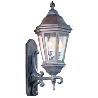 Verona 2 Light 25 inch Bronze Patina Outdoor Wall Lantern in Incandescent