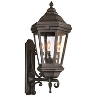 Verona 3 Light 35 inch Matte Black Outdoor Wall Lantern in Incandescent