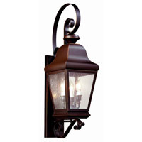 Troy Lighting Carlton II 3 Light Outdoor Wall Lantern in Oil Rubbed Bronze BCD6840OB