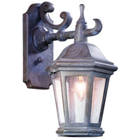 Verona 1 Light 14 inch Bronze Patina Outdoor Wall Lantern in Incandescent