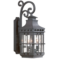 Dover 3 Light 23 inch Natural Bronze Outdoor Wall Lantern in Incandescent