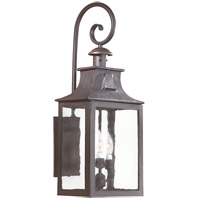 Newton 3 Light 27 inch Old Bronze Outdoor Wall Lantern