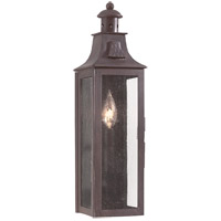 Newton 1 Light 18 inch Old Bronze Outdoor Wall Pocket Lantern in Incandescent