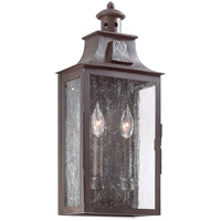 Newton 2 Light 20 inch Old Bronze Outdoor Wall Pocket Lantern in Incandescent