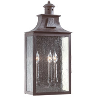 Newton 3 Light 24 inch Old Bronze Outdoor Wall Pocket Lantern in Incandescent
