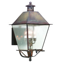 Montgomery 4 Light 24 inch Natural Rust Outdoor Wall Lantern in Clear Seeded