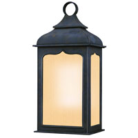 Henry Street 1 Light 19 inch Colonial Iron Outdoor Wall Lantern Fluorescent