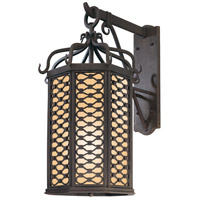Los Olivos 1 Light 26 inch Old Iron Outdoor Wall Pocket in Fluorescent