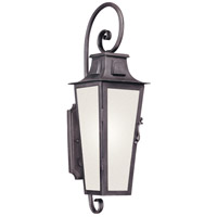Troy Lighting BF2962 Parisian Square 1 Light 24 inch Aged Pewter Outdoor Wall Lantern in Fluorescent