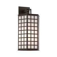 Troy Lighting Cameron 1 Light Outdoor Wall in Bronze with Coastal Finish BF3413-C