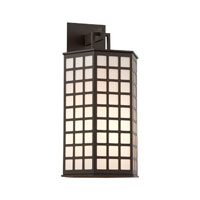 Troy Lighting Cameron 1 Light Outdoor Wall in Bronze with Coastal Finish BF3414-C