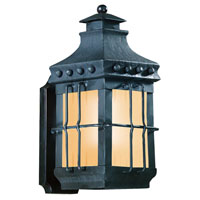 Dover 1 Light 15 inch Natural Bronze Outdoor Wall Lantern Fluorescent