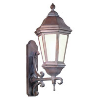 Troy Lighting BFCD6831BZP Verona 1 Light 25 inch Bronze Patina Outdoor Wall Lantern Fluorescent