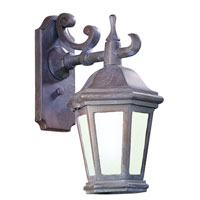 Verona 1 Light 14 inch Bronze Patina Outdoor Wall Lantern Fluorescent