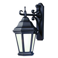 Troy Lighting BFCD6891MB Verona 1 Light 25 inch Matte Black Outdoor Wall Lantern Fluorescent