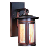 Troy Lighting Highland Park 1 Light Outdoor Wall Lantern in Oil Rubbed Bronze BFIH6914OB-D