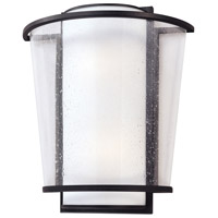 Troy Lighting BL1352FBZ Bennington LED 14 inch Forged Bronze Wall Sconce Wall Light, Matte Opal and Seeded Clear Glass