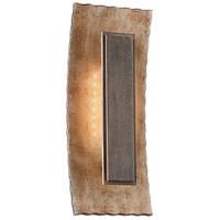 Troy Lighting Ginza 1 Light LED Outdoor Wall Sconce in Warm Silver With Forged Bronze BL3732