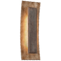 Troy Lighting Ginza 1 Light LED Outdoor Wall Sconce in Warm Silver With Forged Bronze BL3733