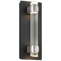 Troy Lighting Utopia 4 Light LED Outdoor Wall Sconce in Matte Black With Satin Aluminum Accents BL3751MB
