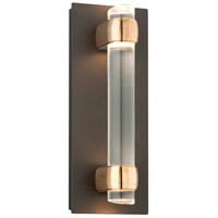 Troy Lighting Utopia 4 Light LED Outdoor Wall Sconce in Bronze With Aged Brass Accents BL3752BZ