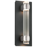 Troy Lighting Utopia 4 Light LED Outdoor Wall Sconce in Matte Black With Satin Aluminum Accents BL3752MB