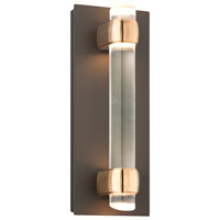 Troy Lighting Utopia 4 Light LED Outdoor Wall Sconce in Bronze With Aged Brass Accents BL3753BZ