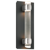 Troy Lighting Utopia 4 Light LED Outdoor Wall Sconce in Matte Black With Satin Aluminum Accents BL3753MB