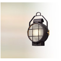 Point Lookout LED 16 inch Aged Silver with Polished Brass Accents Outdoor Wall Lantern